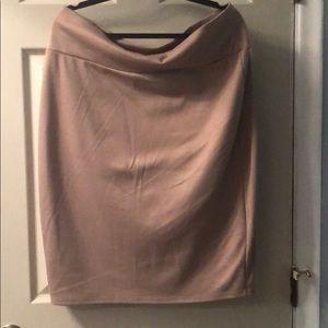 LuLaRoe Cassie Skirt - Tan w/ Glitter Gold Sparkle